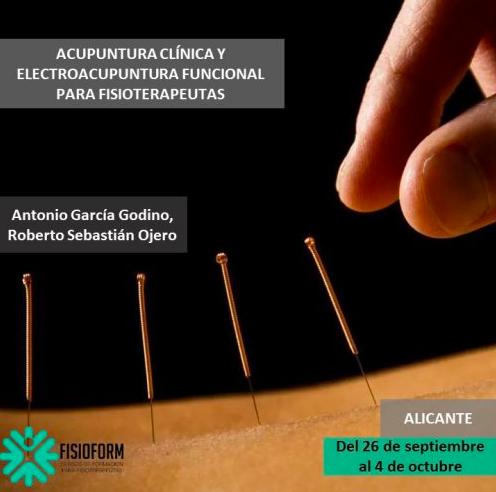 ACUPUNTURA CLÍNICA Y ELECTROACUPUNTURA FUNCIONAL PARA FISIOTERAPEUTAS